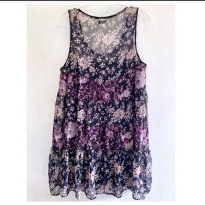 Kimchi Blue (UO) Boho Sleeveless Mini Dress L